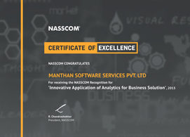 Manthan's work with the Future Group in the area of 'Personalizing Offers and Assortments with Advanced Customer Analytics' wins recognition at Nasscom's 'Excellence in Analytics' awards.