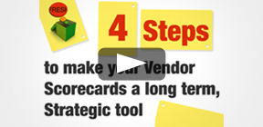 4 steps to make your vendor scorecards a long term, strategic tool