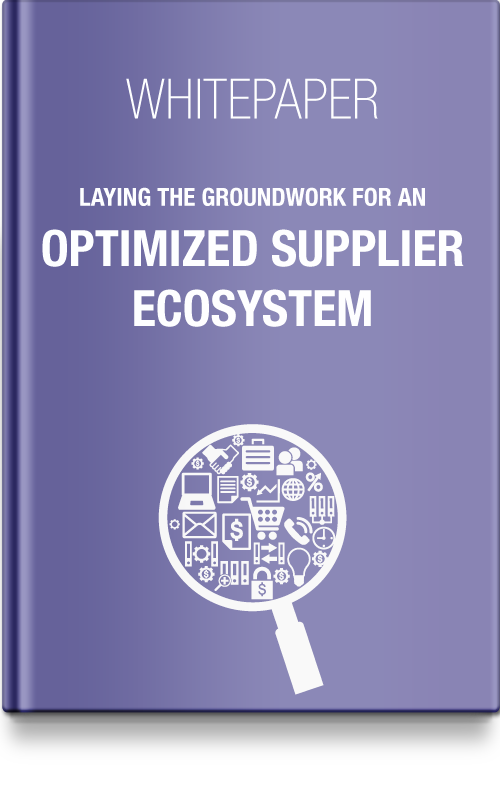 Laying the groundwork for an optimized supplier ecosystem